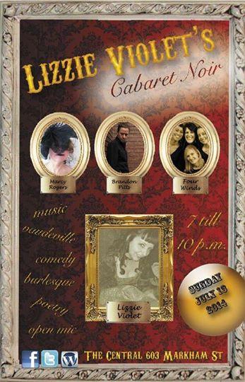 New Show Announced: Four Winds play Lizzie Violet's Cabaret Noir!