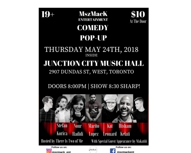 IG MszMacK Comedy PopUp Poster